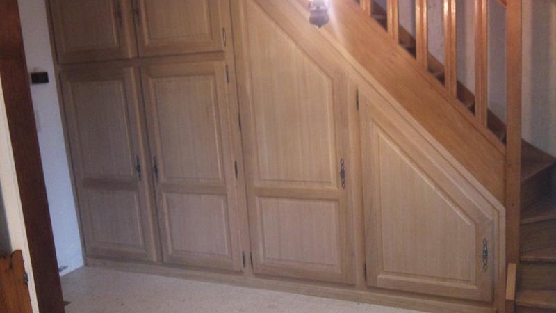 Photos menuiserie d villoise - Habillage sous escalier ...